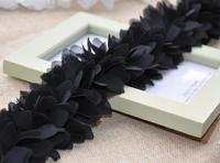 Кружево для шитья chiffon Lace tirm three-color three-dimensional lace flower petals Diy accessories About 6cm width 6yard/LOT