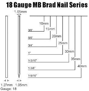 Mb brad nail headless nail buy brad nail18 gauge nailsheadless mbg greentooth Choice Image