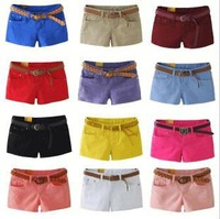 Женские шорты 2012 Fashionable Sexy Cotton women's shorts S/M/L/XL size and 12 kinds of colors for you choose &Drop Shipping