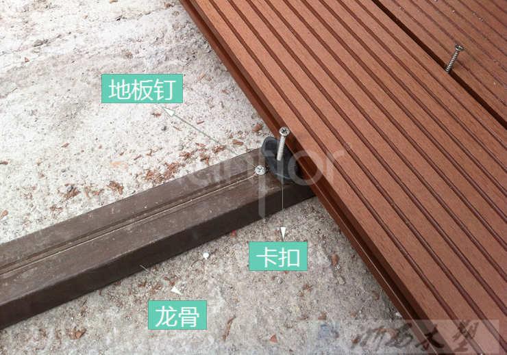 Diy на открытом воздухе WPC палубы плитка / деревянный пол / композит доска, Wpc террасная доска