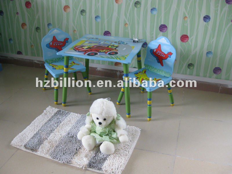 Wooden Children table and chair Kids school table