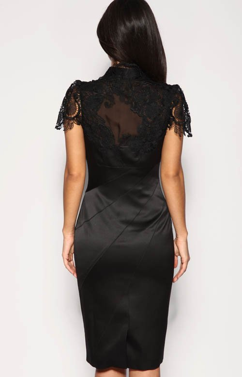 plus size  dress women cocktail party dresses with lace+ silk knee length ,gray, black,1pc wholesale+free shipping