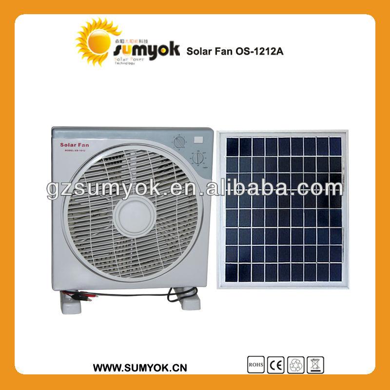 Good quality Solar fan OS-1212A solar powered outdoor fan 15W DC12V