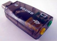 EMS/dhl 3d звуковая карта usb 2.0 виртуальный 5.1 канал для pc 100шт
