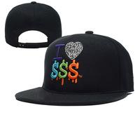 хип-хоп я люблю шляпы snapback доллар & шапки черный красный самых популярных мужчин женские классические регулируемый strapback Кап