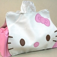 Free Shipping   M11103CL   hello kitty leather tissue box pumping paper towel tube