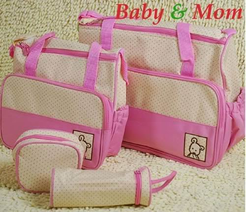 New 5Pcs Baby Diaper Nappy Bag