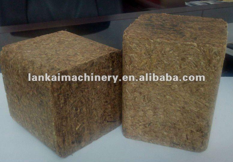 Two head sawdust hot extruder press wood block machine