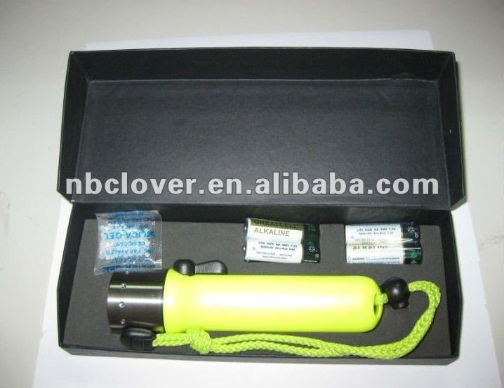 Cree Q5 green handle power style diving led flashlight