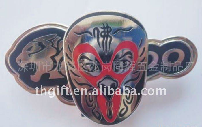 Fashion Global logo metal cuff link w/epoxy coating