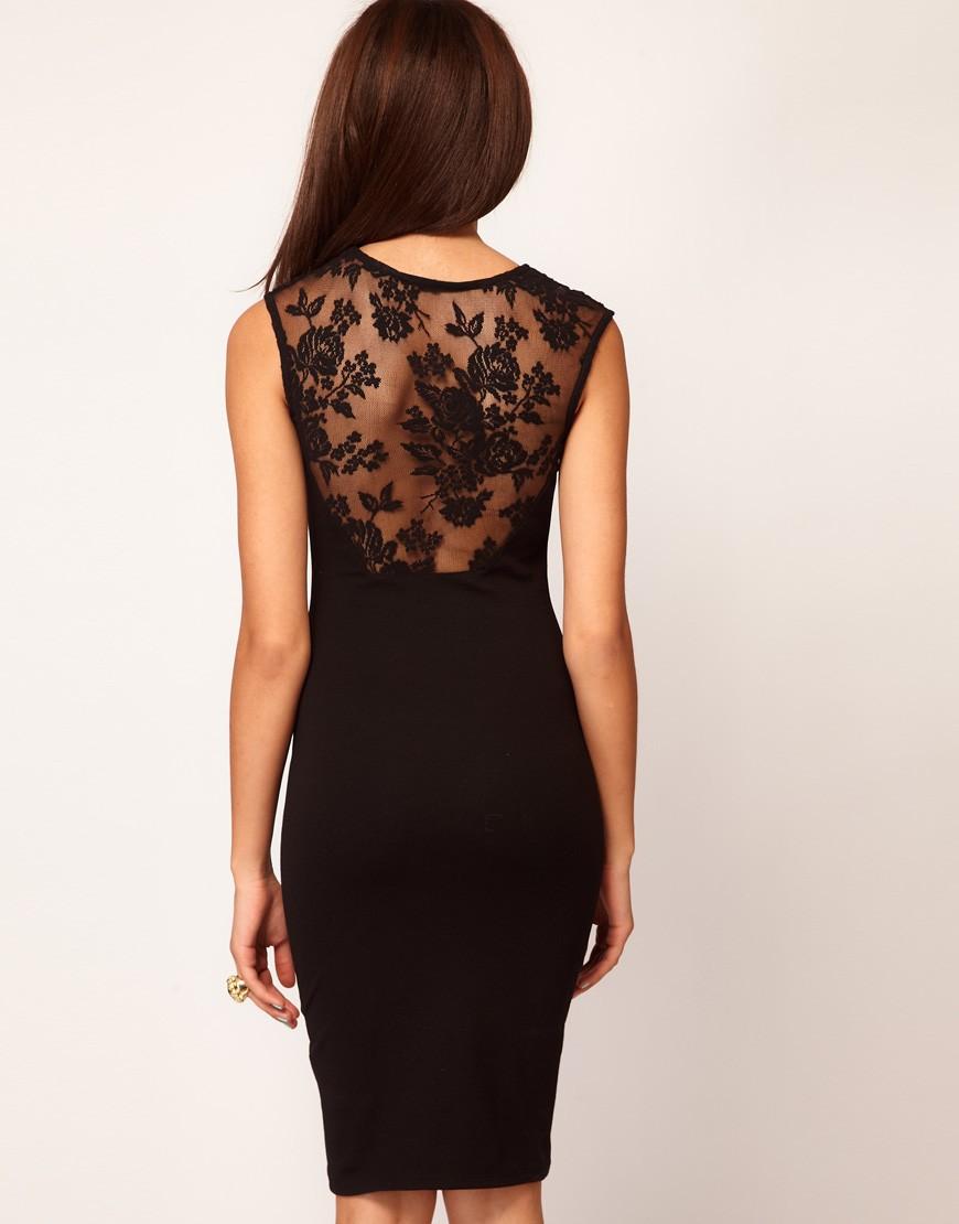 Платье с ажурной спиной