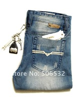 Мужские джинсы Aliexpreess # HOT! 2012 New Style Brand New Classic Design Trousers Men's Straight Jeans Size 28-38 #8302