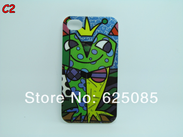 C-Illustration girl Frog Love Fish Bird Cartoon Abstract Art Graffiti Design Plastic Hard Case for Apple Iphone4 Iphone 4 4S (2).jpg