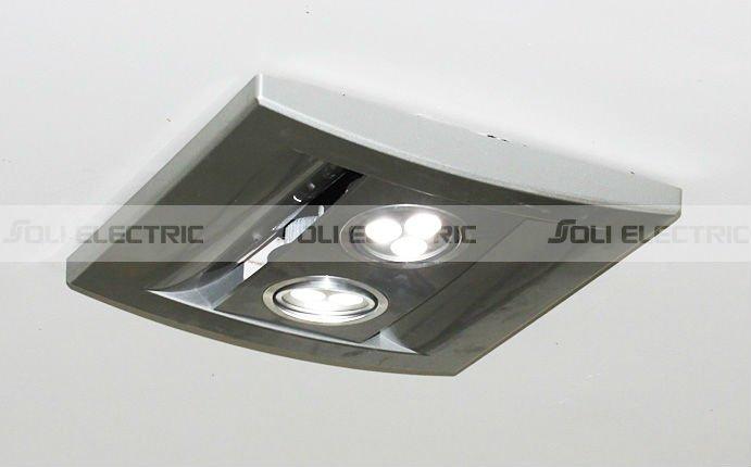 Bathroom exhaust light