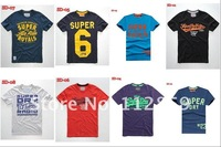 Мужская футболка 2012 new Mens superdry T Shirt Men's Short Sleeve T Shirt slim fit, cotton, many color for choose drop shipping