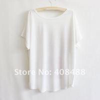 Футболка New 3color Women Fashion Summer Roses Loose Bat type Short sleeve T-shirt