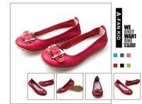 Водонепроницаемые мокасины для женщин 2013 new stlye fashion woman flat boat shoes