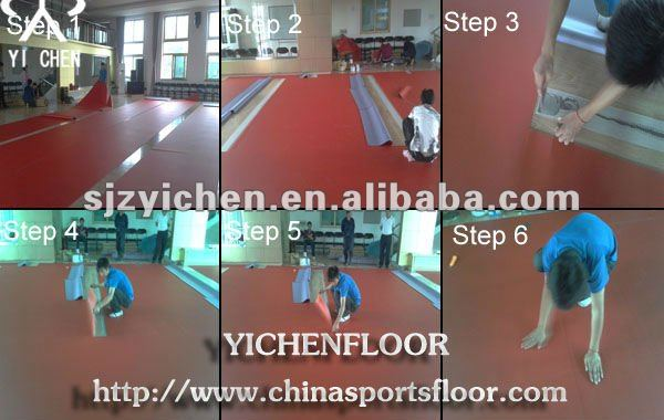 multipurpose court basketball pvc sports flooring