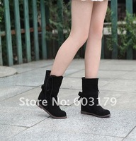 size 34-43 Women's boots.casual ankle boot.plus size ladies flat shoes drop shipping lb1205