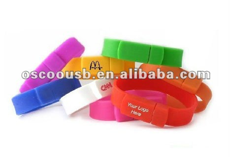 Promotional cheap bracelet usb drive from 64MB to 32GB
