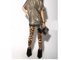 Женские носки и Колготки TRENDY LEOPARD PRINTED WAS THIN ELASTIC NINE POINTS LEGGINGS