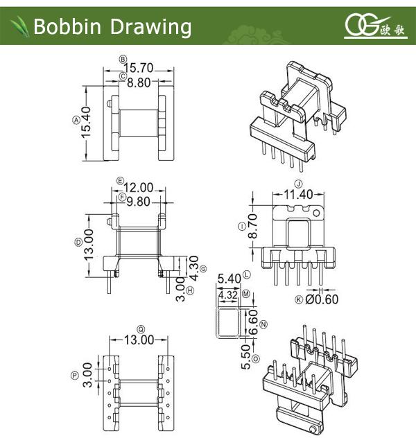EE16 electron transformer bobbin