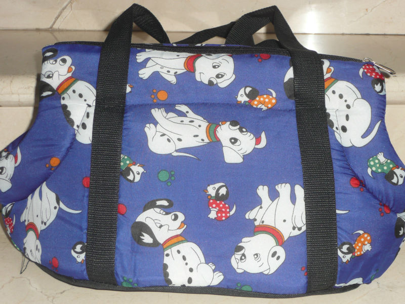 "DOG TRAVEL BAG SOFT Pet Cat Travel Carrier / Tote Bag / 10"" X18"" Purse"