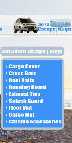 2013 For Ford Escape | Kuga Rear Hatch Cargo Cover