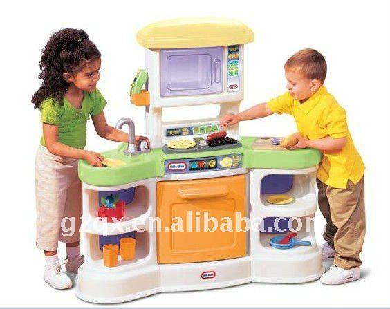 Populaire en plastique cuisine pour petits enfants qx for Quelle peinture pour plastique