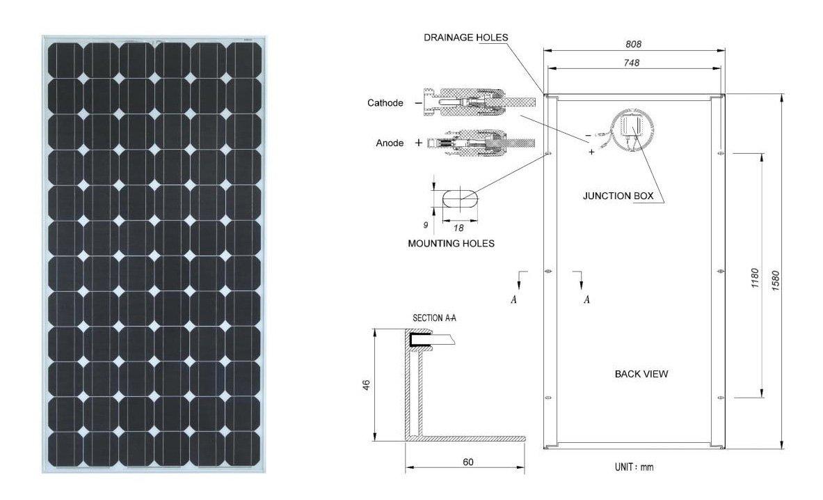 ワット5001000ワットソーラーパネルの価格仕入れ・メーカー・工場