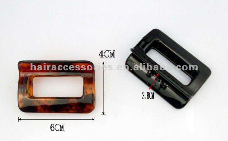 3.8cm Plastic plain color lip Hair Claw