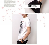 Мужская футболка 2012 Men's Fashion Korean 100% Cotton T shirt, Stylish clothing, Man's Tee shirt, Brand Short Sleeve Top