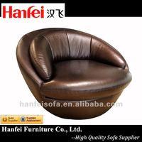 Leather swivel chair F866C