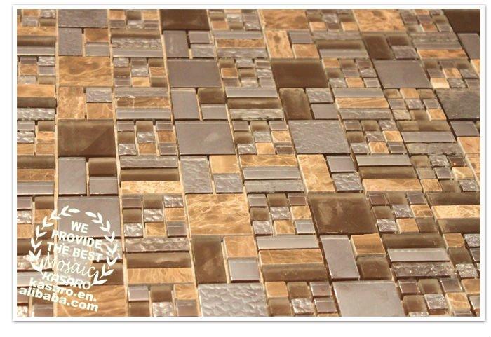 Mix di vetro mosaico di pietra piastrelle pavimento del for Mosaico vetro bagno