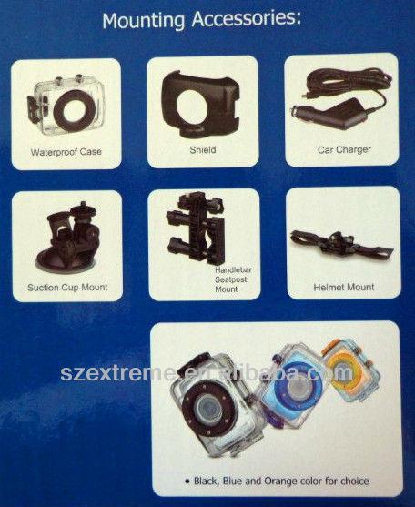 OEM 720P Waterproof Action Sports Digital Camera