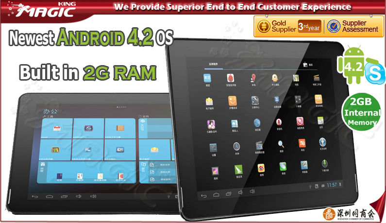 9.7 inch rk3188 good voice tablet pc - PiPo M6