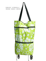 Сумка для шоппинга Oxford fabric folding dual tug package fashion eco-friendly shopping cart shopping bag with roller