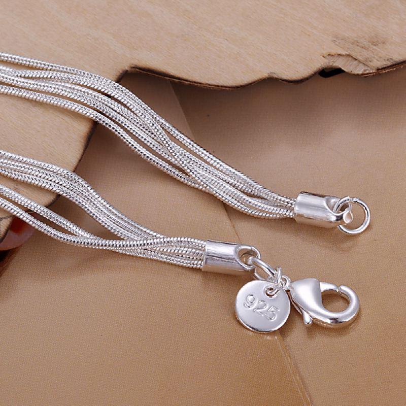 משלוח חינם 925 תכשיטי כסף סטרלינג צמיד בסדר אופנה צמיד איכותי סיטוני וקמעוני SMTH243