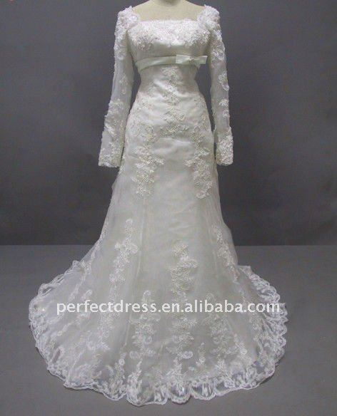2012 new model long sleeve lace wedding dresses RCP0025