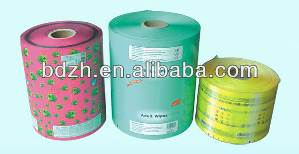 High quality wet wipe pouches laminated packaging film
