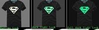2 шт /lot моды привело мигает Супермен любителей коротким рукавом Футболка пара футболку