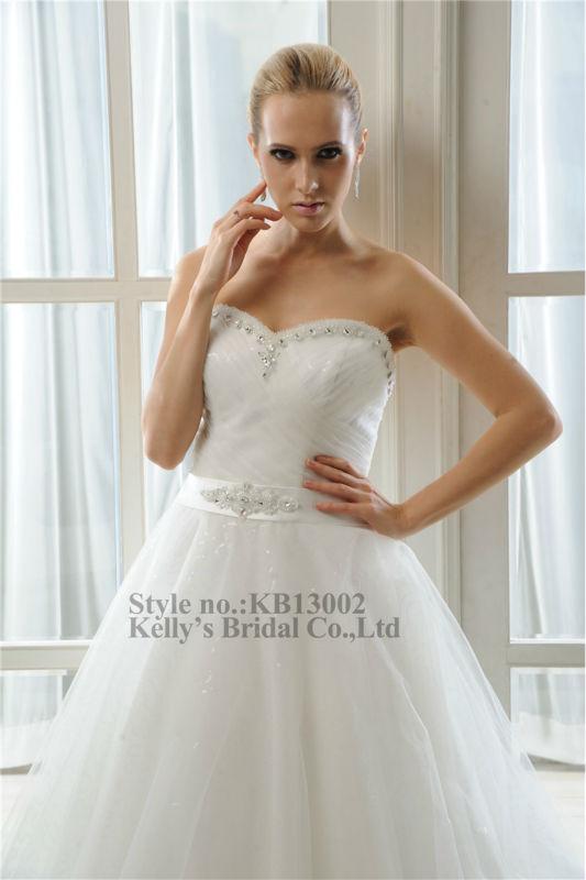 Wholesale Sweetheart Neckline Make Of Shining Tulle Plus Size Wedding Dress P
