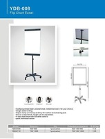 YDB-008 power coated steel frame adjustable and movable flip chart easel