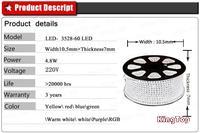 Светодиодная лента OEM 2 /220v 3528 120leds DT-3528H-60LED