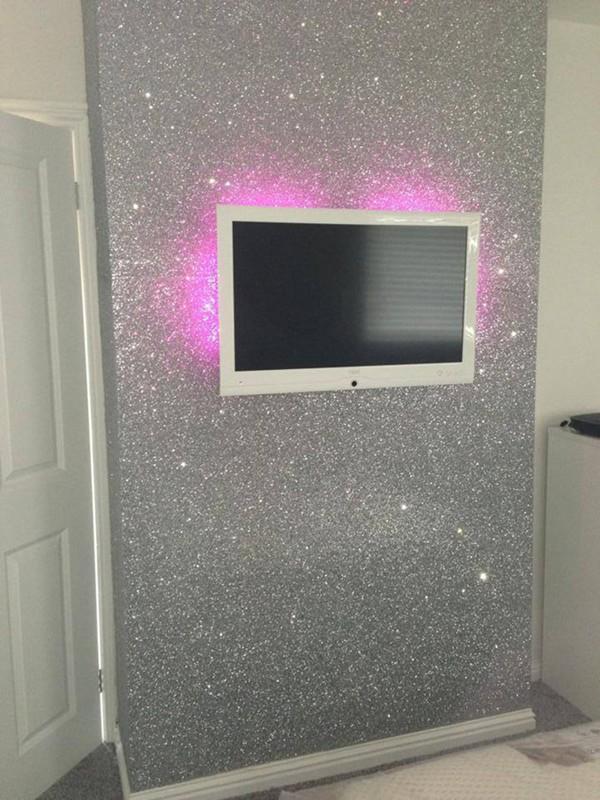 Parete Argento Con Glitter : Sparkle glitter argento carta da parati ...