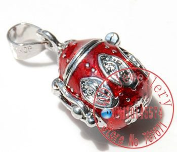 Free Shipping 10pcs/lot Red Enamel  Wish Prayer Box  Pendant, Magic Perfume Locket   Pendant  Necklace Pendant  - P24