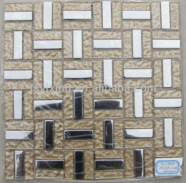 gm07 벽돌 유리와 금속 모자이크 타일 국경 decorativas 벽-모자이크 ...