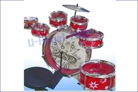 Барабан New Kids Chiled Rocking Drum Set kit Musical Instrument red