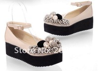 Водонепроницаемые мокасины для женщин Hot sale, fashion high quality beading lady baba shoes, 2012 new style women boat shoes, size 35-39, 516