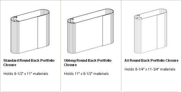 Paper Board portfolio Binders A4 Square Back Portfolio Closure